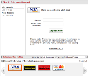 ACR Deposit Page