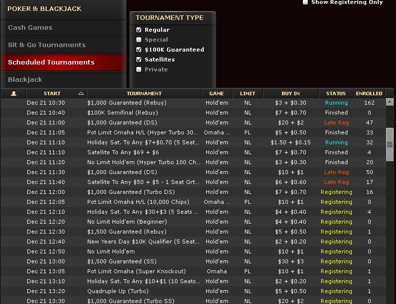 Bovada poker tournaments schedule autoart slot cars 1 24