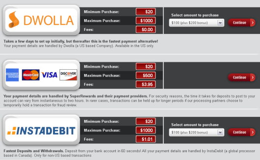 SkillBet Deposit Options