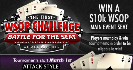 WSOP Challenge on Attack Poker