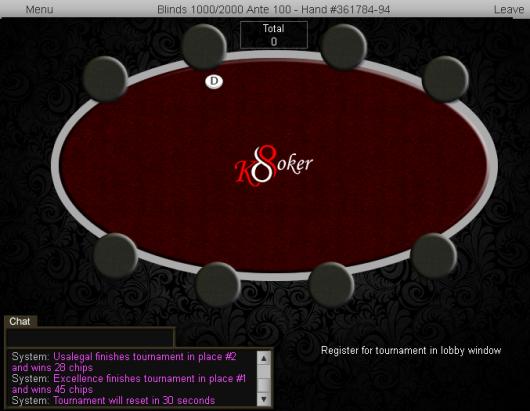 100 Chip GTD on K8 Poker