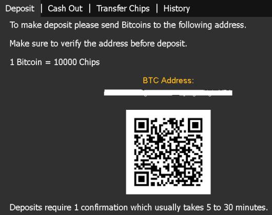 Deposit Screen