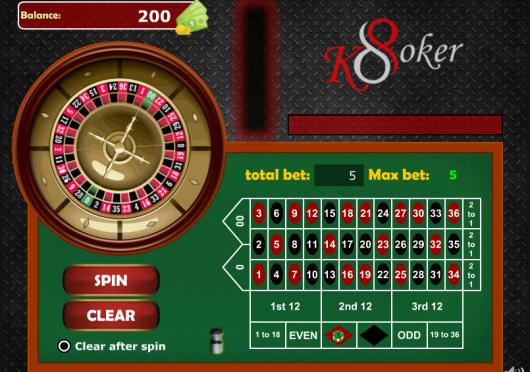 Roulette on K8