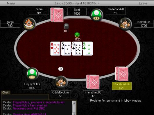 Table View K8 Poker