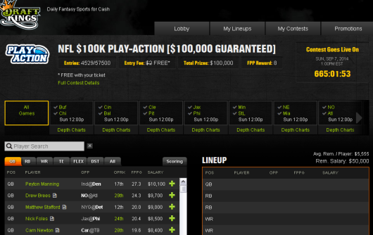 $100K Play Action entry with Deposit