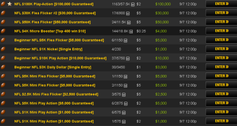 25c to $5 NFL Contests