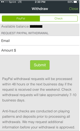 Withdrawal Screen