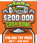 $200,000 Cash Bowl on DraftKings