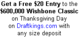 Play Real Money  Fantasy Football on Thankgiving Day for Free