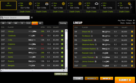 Take a chance on this week 14 Lineup