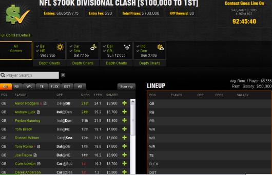 $700K Divisional Clash