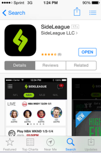 Get Sideleague on your App Store