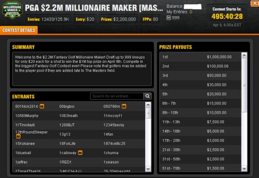 PGA Millionaire Maker