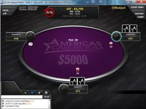$5K Jackpot table
