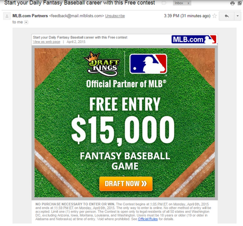 Free $15K Opening Day fantasy baseball contest