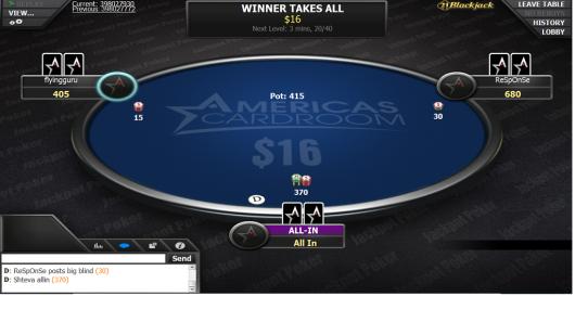 Jackpot Table