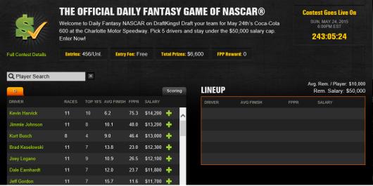 Daily NASCAR Fantasy