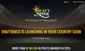 DraftKings to go International