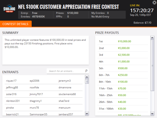 $100K Customer Appreciation Free Roll
