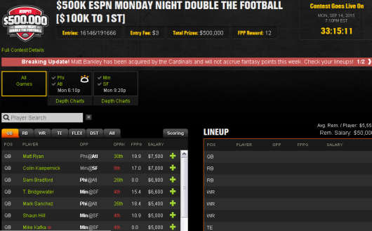 Monday Night Double the Football