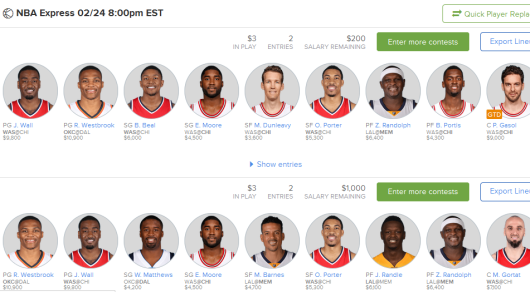 NBA Express Line up suggestions FEB. 24