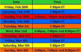 PlayPen Schedule