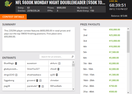 draftkings-monday-night-featured-contest